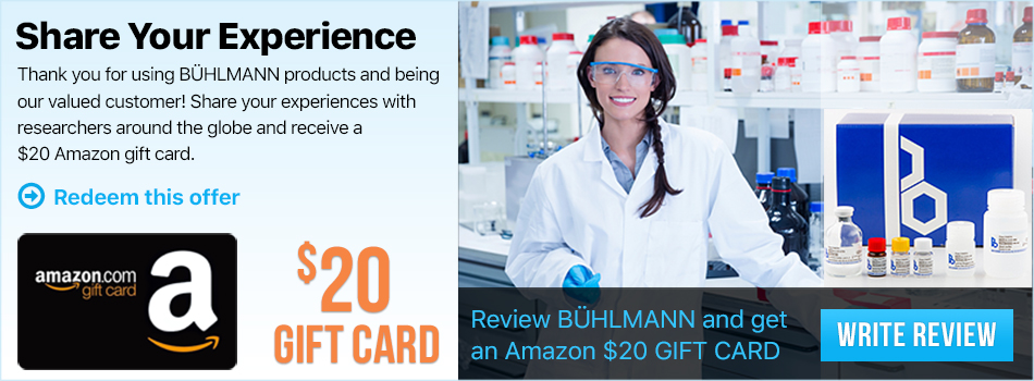 Biocompare Product Review Buhlmann Products Get 20 Amazon Gift Card